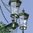Historic gas lamp-post in Prague - Stock Photo