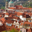 Red roofs in Prague — Stock fotografie