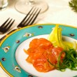 Starter smoked salmon — Stock Photo #9122722