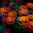 Stock Photo: Abstract light spirals background