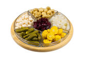 Assortment of pickled vegetables — Stock Photo
