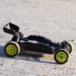 RC buggy car on snow - Stock Photo