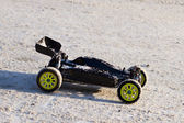 RC buggy car on snow — Stock Photo