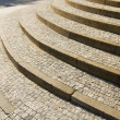 Stone granite stairway — Stock Photo
