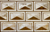 Sgraffito on historical wall background — Stock Photo