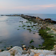 Breakwater in the Black sea — Stock Photo