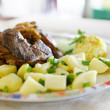 ROASTED LAMB MEAT PORTION — Stock Photo