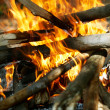 Fire for burning wood - Stock Photo