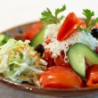 Stock Photo: Vegetable salad with Bulgariwhite Fetcheese