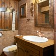 Stock Photo: Bathroom interior of guest house