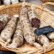 Stock Photo: Sausage at Provence market