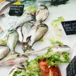 Fresh fish on French market — Zdjęcie stockowe