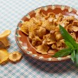 Chanterelle appetizer dish — Stock Photo