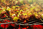 Grilled meat on a barbecue — Stock Photo