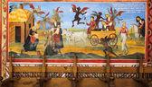 Nástěnná malba scénu bibli od rilského kláštera — Stock fotografie