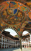 Rila monastery, mural paintings — Stock Photo