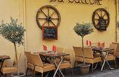 Small restaurant in Aix en Provence — Stock Photo