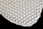 White honeycomb on black — Stock Photo