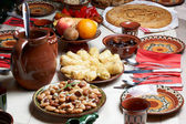Traditional Bulgarian Christmas food — Stock Photo