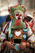 Kuker, Bulgarian traditional mask — Stock Photo