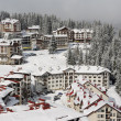 Hotels in Pamporovo resort - Stock Photo