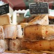 Stock Photo: Random French cheese on Provence market