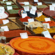 Sort of spices at Provence market — Foto Stock