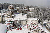 Hotels in Pamporovo resort — Stock Photo