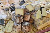 French cheese at Provence market — Stock Photo