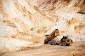 Big truck in limestone quarry — Stock Photo