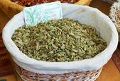 Green cardamom spice — Stock Photo