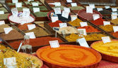 Sort of spices at Provence market — Stockfoto