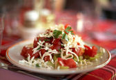 Bulgarian shopska salad — Stock Photo