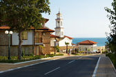 Street in Sveti Vlas, Bulgaria — Stock Photo
