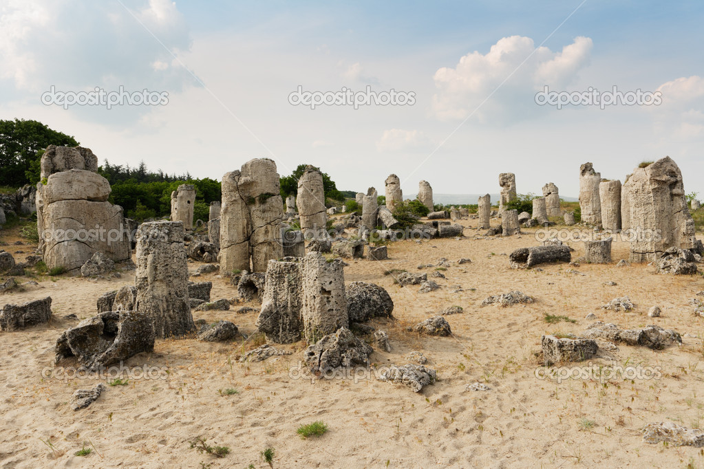 Stone phenomenon near varna — Stock Photo #9150030