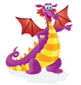 Dragon cartoon character, isolated — Stock Vector