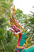 Fotografie z naga socha v thajském chrámu — Stock fotografie