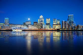 London Docklands at night — Stock Photo