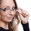 Young beauty wearing glasses — Stock Photo #9123897