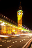 Big ben di notte — Foto Stock