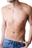 Defined male body — Stock Photo