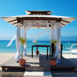 Beach weddings pavillion in Gili islands — Stock Photo