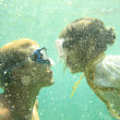 Undersea kiss — Stock Photo