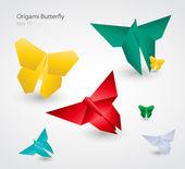 Vector Origami Butterflies. EPS10 — Stock Vector