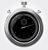 Vector stopwatch in high detail. Retro mechanic chromed — Stock Vector