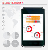 Mobile infographics. Set of graphs and chats. — Stock Vector