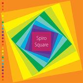 Vector spirograph illustration of square — Stock Vector