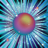 Shiny rainbow disco ball — Stock Vector