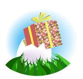 Easter_gift — Stock Vector