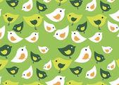 Green_birds — Stock Vector